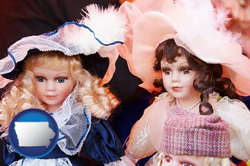 collectible vintage dolls - with Iowa icon